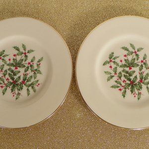 2 Lenox PRESIDENTIAL SPECIAL Bread Plates Lg Decal